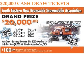 2020 SENBSA Cash Draw Tickets